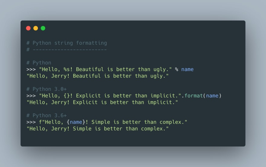 A brief overview of string formatting in Python